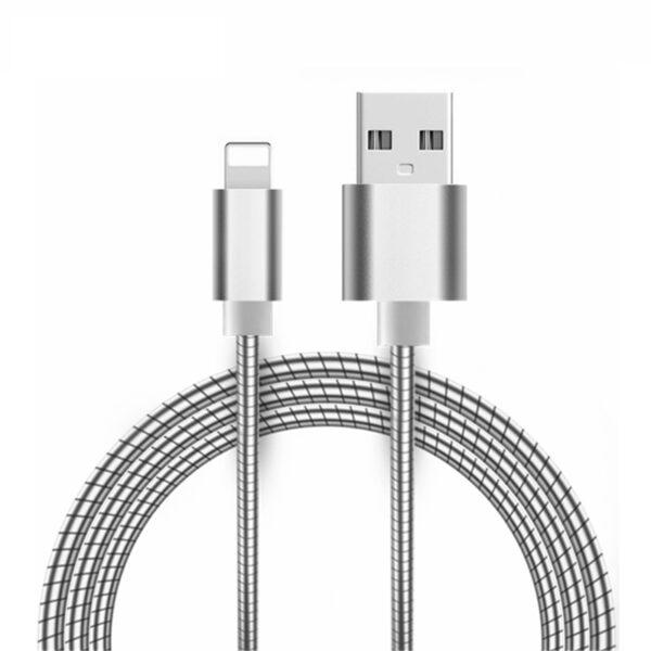 Cabo Usb Full Metal Lightning Dourado 1m Apple Iphone Img 02