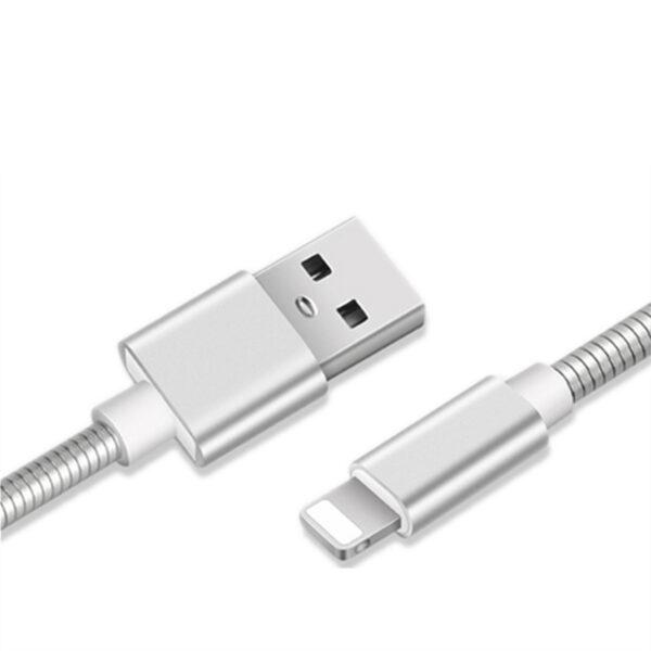 Cabo Usb Full Metal Lightning Dourado 1m Apple Iphone Img 04
