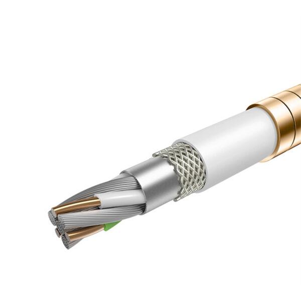 Cabo Usb Full Metal Lightning Dourado 1m Apple Iphone Img 05