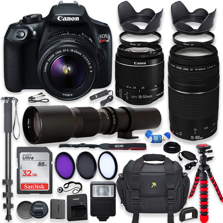 Camera Canon Eos Rebel T6 Dslr Completa Com Acessorios Img 01