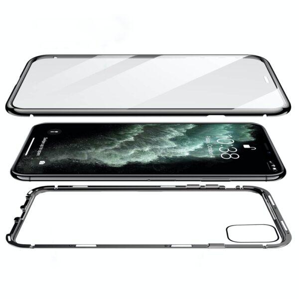 Capa 360 Magnética Metálica Iphone 11 Pro Preta Img 02