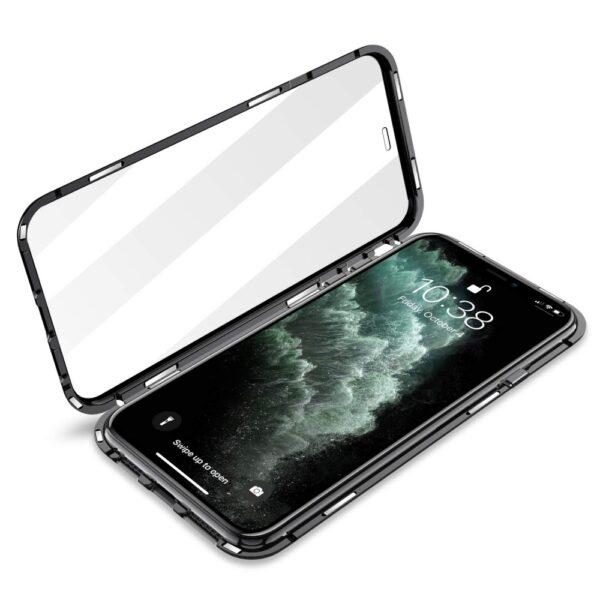 Capa 360 Magnética Metálica Iphone 11 Pro Preta Img 04