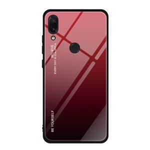 Capa Dura Emborrachada Vidro Temperado Gradiente Preto Vermelho Essager Be Yourself Xiaomi Redmi Note 7 Img 01