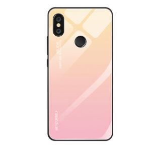 Capa Dura Emborrachada Vidro Temperado Gradiente Rosa Claro Bege Essager Be Yourself Xiaomi Mi 8 Lite Img 01