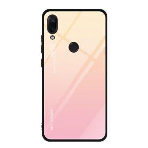 Capa Dura Emborrachada Vidro Temperado Gradiente Rosa Claro Bege Essager Be Yourself Xiaomi Redmi Note 7 Img 01