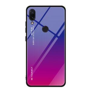 Capa Dura Emborrachada Vidro Temperado Gradiente Rosa Escuro Azul Escuro Essager Be Yourself Xiaomi Redmi Note 7 Img 01