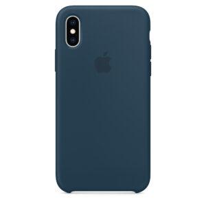 Capa De Silicone Para Iphone Xs Verde Pacífico Img 01