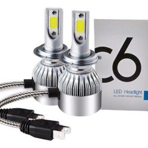 Lampada Automotiva Super Branca H7 6000K LED 40W 4200LM 9V 32V ZEM C6 IMG 01