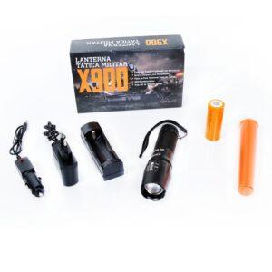 Lanterna Tatica Militar X900 800 Lumens Recarregavel com Zoom IMG 01