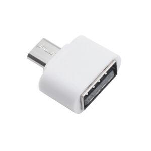 Mini Adaptador Otg Micro Usb Para Usb Branco Img 01