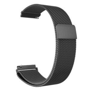 Pulseira Milanese Metal Inoxidavel Preta Xiaomi Amazfit Bip Img 01