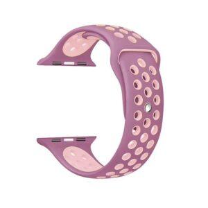 Pulseira Silicone Estilo Nike Apple Watch Lilas Rosa Img 01
